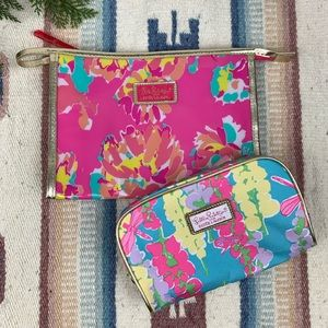 Set of two Lilly Pulitzer Cosmetic Makeup Bags